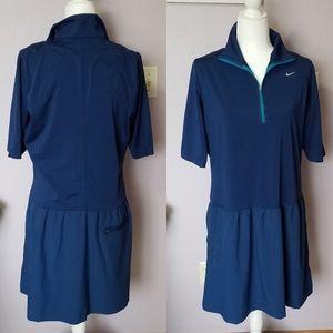 Nike Golf Performance Blue Polo Dress